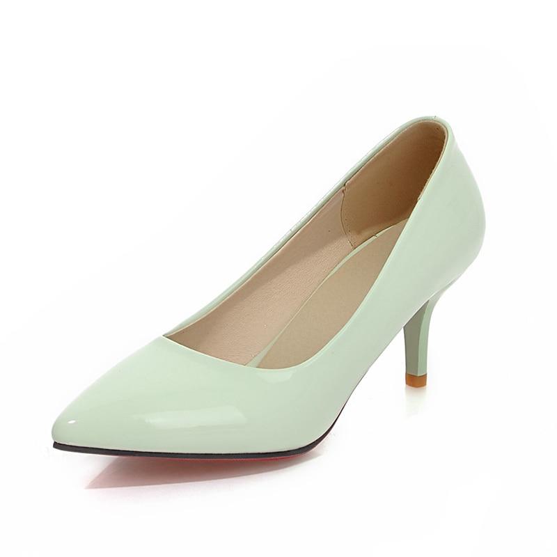 Noir Ol Taille Grande rose blanc Femmes Sexy Chaussures 34 Sur Slip Minces Talons Offre Élégant Spéciale vert De jaune Femme 43 Sarairis Pompes UCaxwSqEt