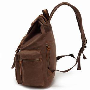Image 4 - AUGUR New Mens 17 inch laptop backpack computer school backpacks mens vintage canvas large capacity travel backpack school bag