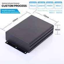 "Factory production 122*45*160/4.8""x1.77""x6.3""(wxhxl)mm aluminum enclosure box for eletronic"