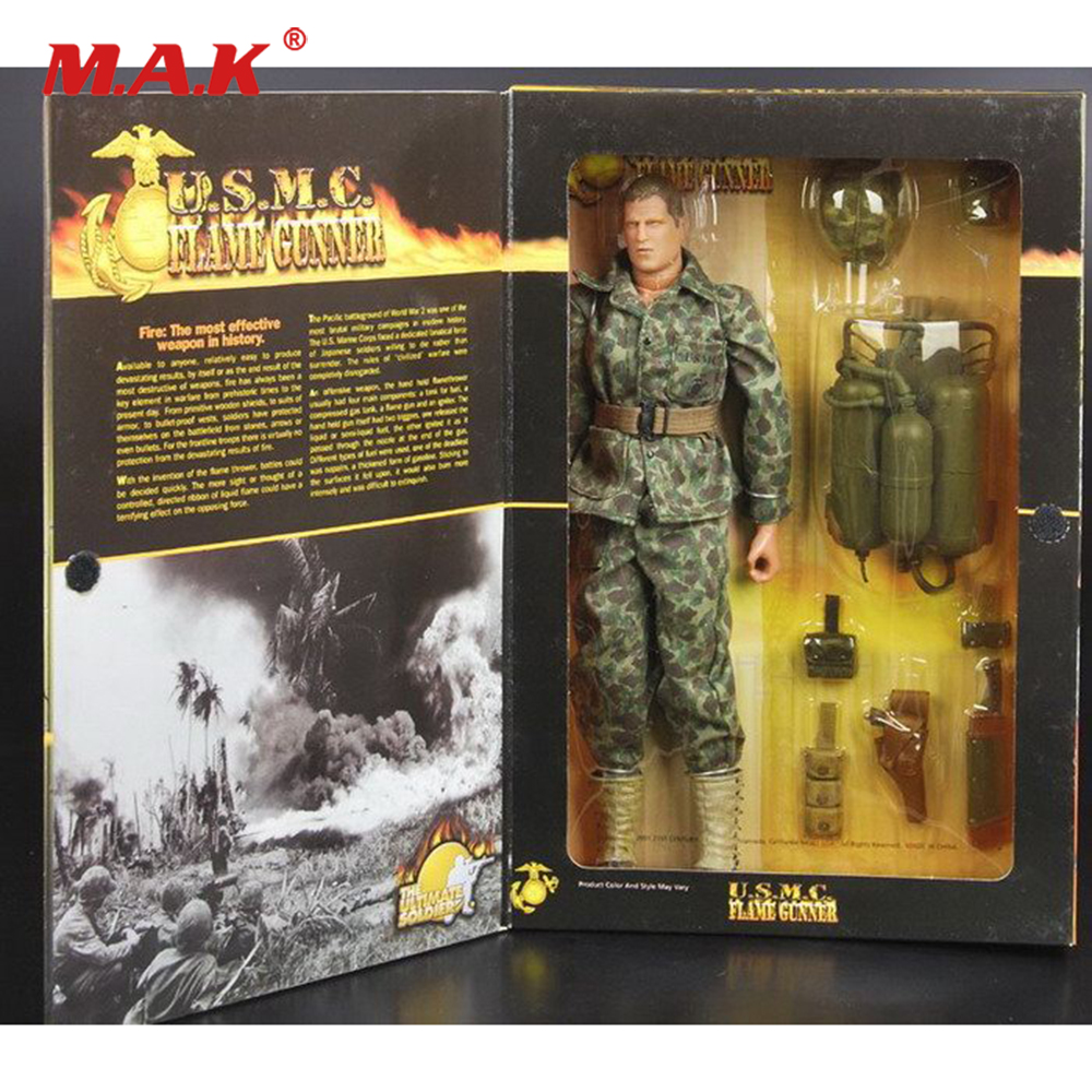 1/6 Scale Full Set Action Figure World War II US Marine Corps Spitfire Fire Gunner Model for Fans Collection Gifts