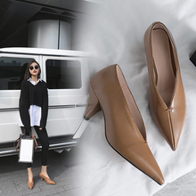 hot VANGULL women Genuine Leather shoes cow leather Sheep suede spike heels pointed toe women pumps professional  office career цена 2017