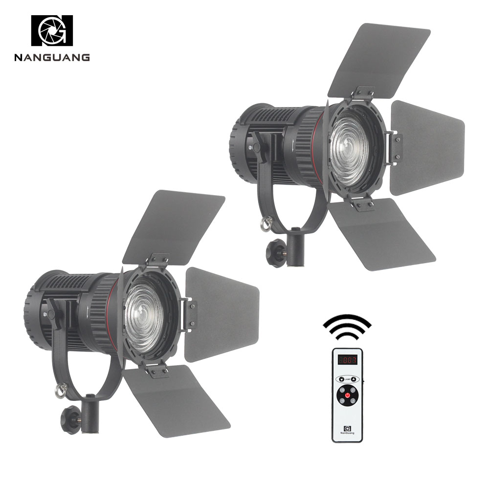 2 x CN-30F 30W LED Fresnel Light Studio Lighting Kit with 2.4G Remote Control and Light Bag 5600K Photo Video Lighting Spotlight cn 148220 x