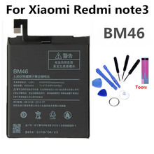 BM46 Mobile Phone Battery For Xiaomi redmi NOTE3 NOTE 3 Real Capacity 4050mAh Replacement Li-ion Battery цена