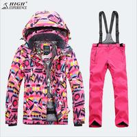 High Experience Women Ski Suit Winter Clothing Trouser Waterproof Windproof Female Jacket Pant Outdoor Sport Wear