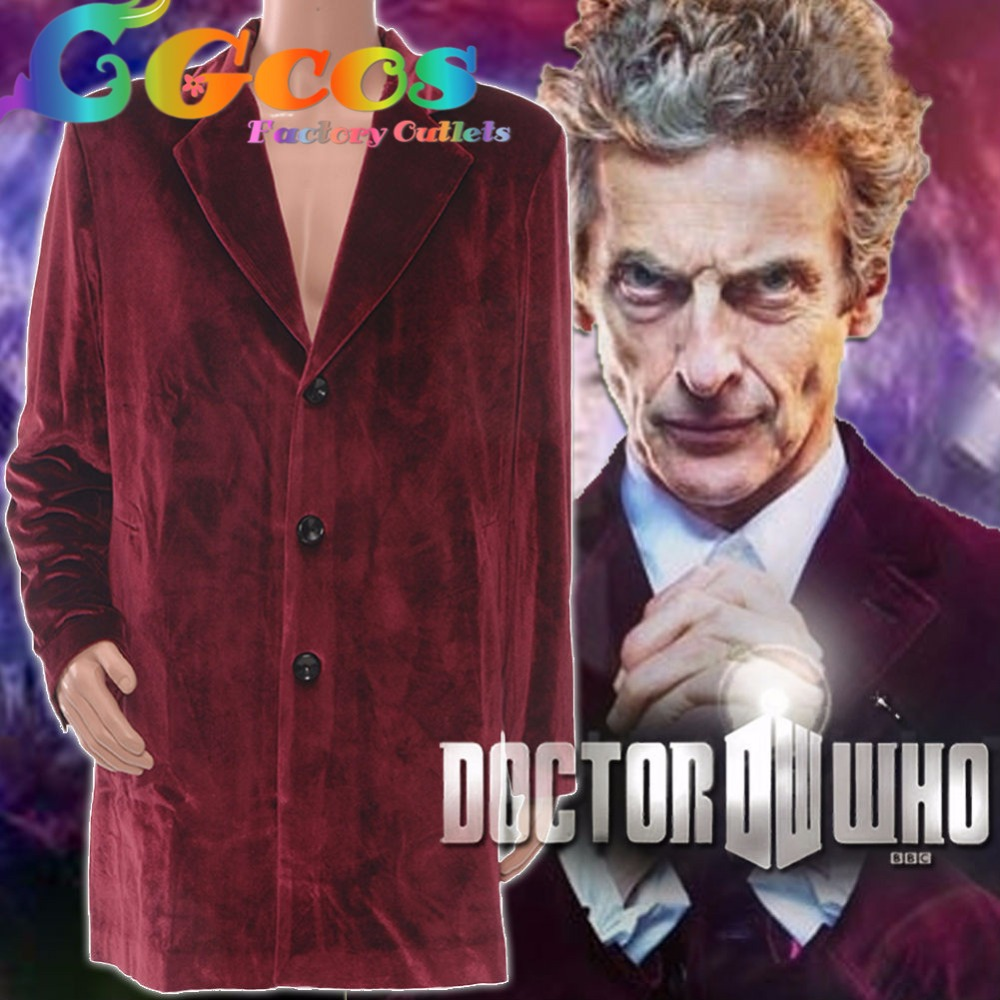 CGCOS Free Ship Cosplay Costume Doctor Who Season 9 Peter Capaldi Coat Uniform New Stock Halloween Christmas Party Uniform