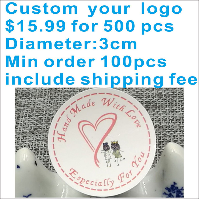 Printing labels custom stickers wedding stickers printed logo transparent clear adhesive round label karft sticker gift