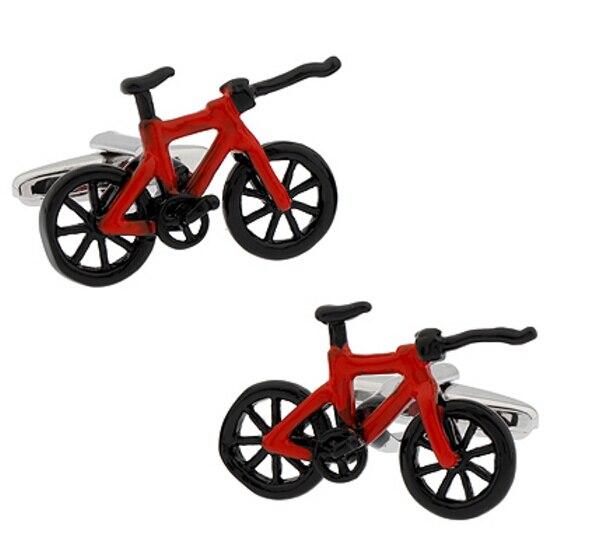 Free Shipping Men's Novelty Cufflinks Brass Material Casual Red Bike Design Business Suit Accessaries цены