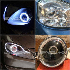 Image 5 - Sinolyn Headlight Lenses Bi xenon Projector Lens 2.5 Angel Devil Eyes LED DRL Tuning For H4 H7 Car Lights Accessories Retrofit