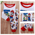 2017 new Sleepwear Suit Super Mario Baby Kids Girls Boys clothing cotton sets Children Nightwear cartoon Pajamas Set