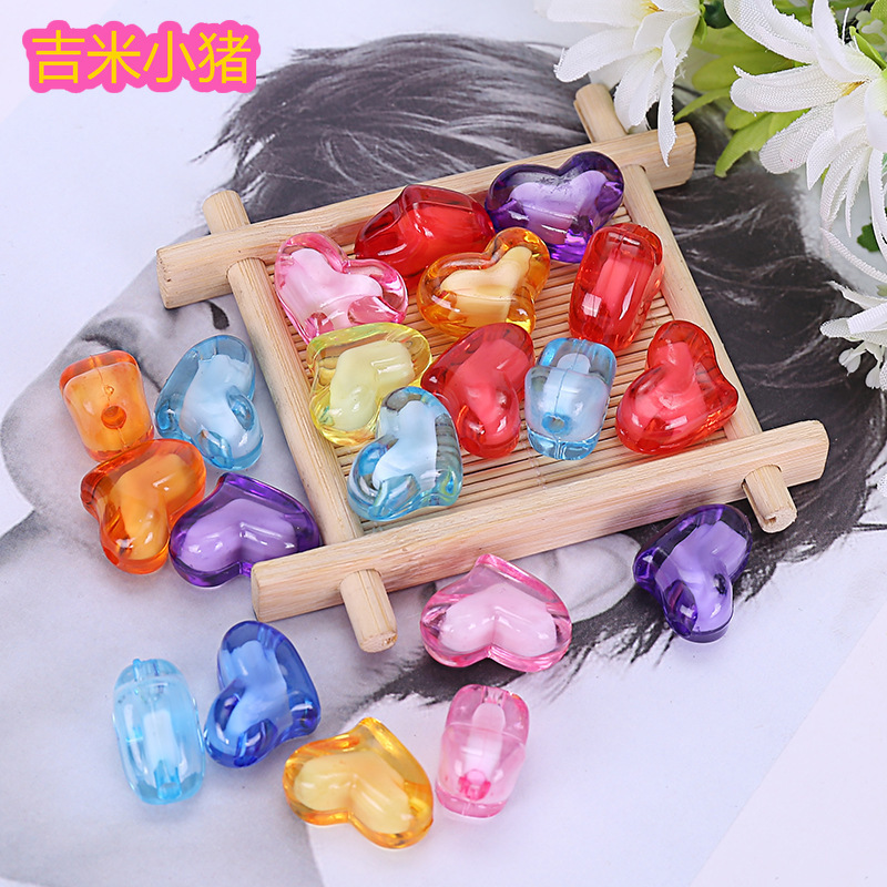 50pcs 8mm Love Crystal Beads Children Toys Girl Gifts DIY Lacing Necklace Bracelets Kids Kindergardon Puzzles Educational Toy