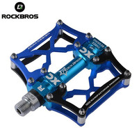 ROCKBROS MTB Cycling Bike Pedals Platform Pedals Magnesium Outdoor Sports Multi Color Mountain Pedal Bicycle Accessories