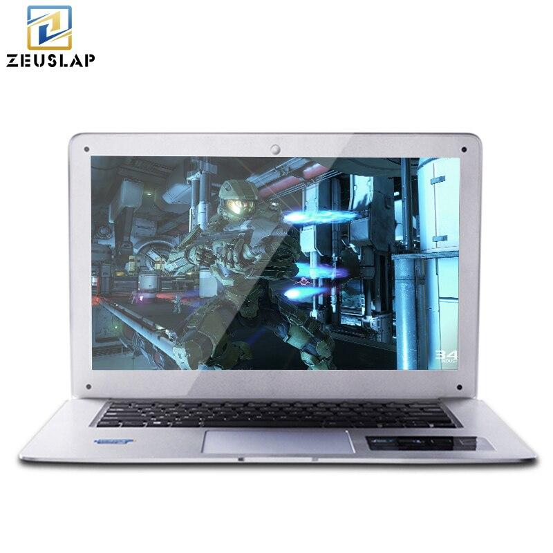 ZEUSLAP-A8 14 inch 8 ГБ Оперативная память + 500 ГБ HDD Оконные рамы 10 Системы 1920x1080 P FHD intel 4 ядра ноутбук Тетрадь компьютер
