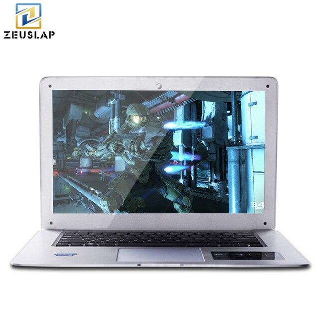 ZEUSLAP-A8 14inch 8GB RAM+500GB HDD Windows 7/10 System 1920X1080P FHD Intel Quad Core Laptop Notebook Computer on Sale