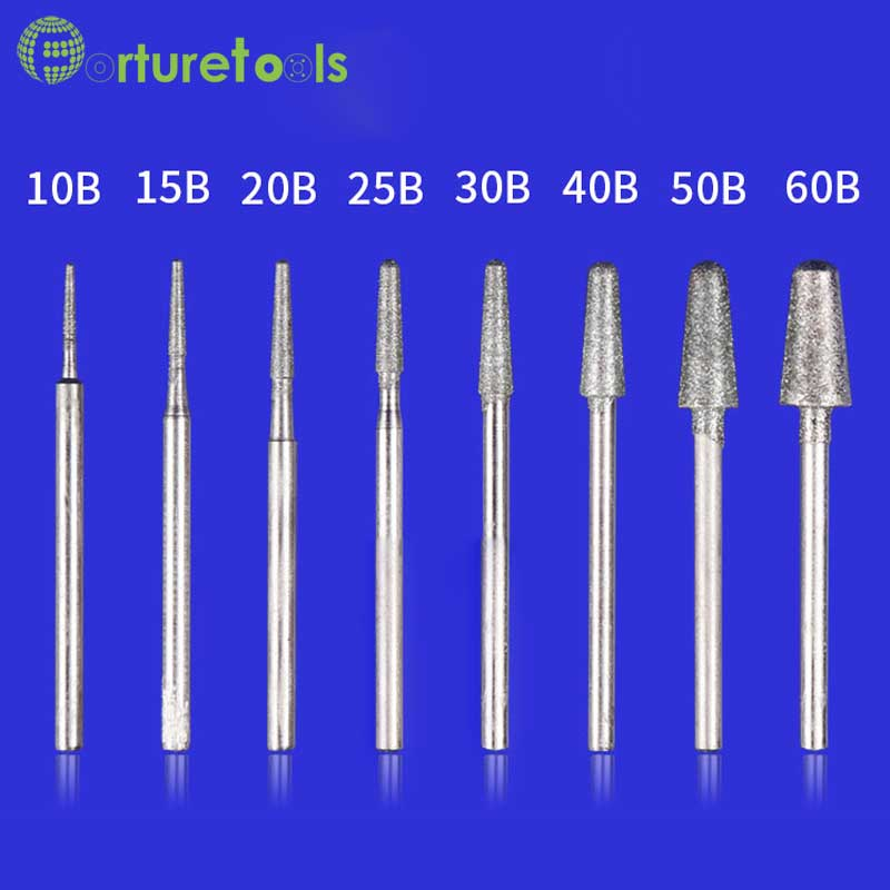 50ks diamantový bodový dremel rotační nástroj namontovaný kola - Brusné nástroje - Fotografie 6