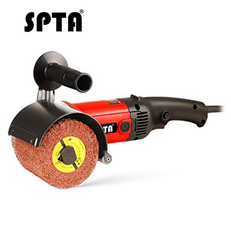 SPTA 1200W Burnishing Mini Polishing Machine Sanding Wheel Set Car Polisher Sander Grinder Metal Stainless Steel Polish 110 230V