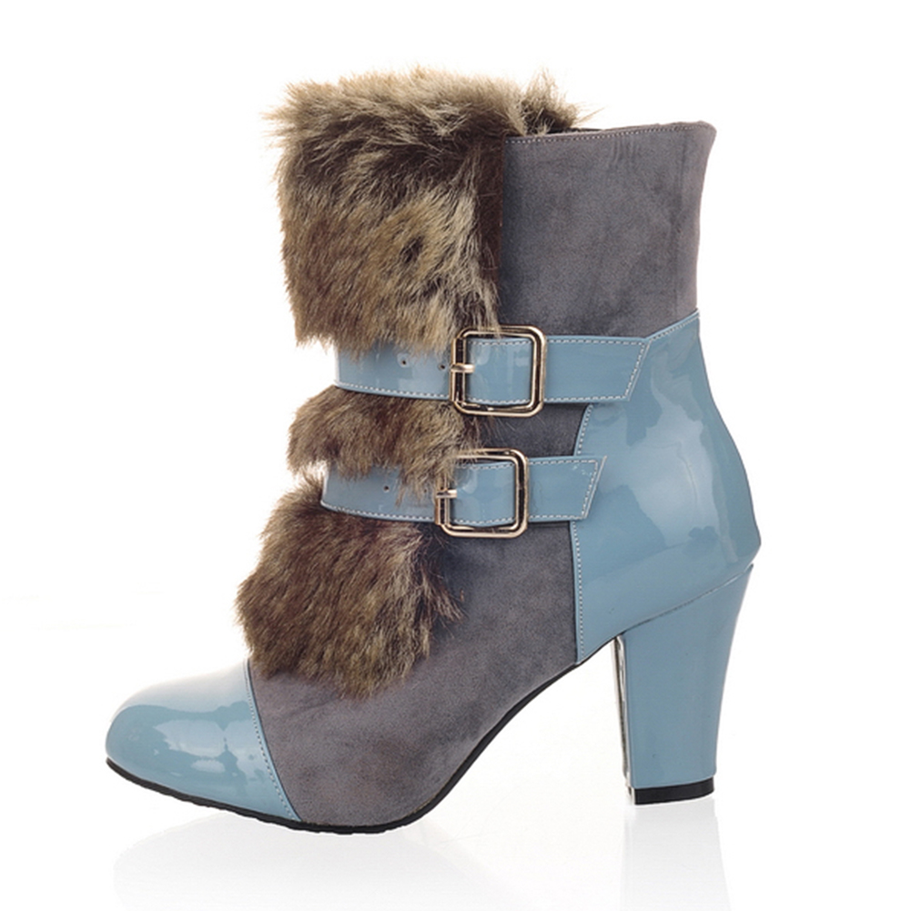 15d190e9d0f0 Купить KarinLuna 2018 г. Большие размеры 32 43 теплые плюшевые женские  ботинки женская обувь модные женские Обувь на высоком каблуке зимняя женская  обувь  ...