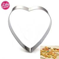 50pcs Cookie Cutters Stainless Steel Heart Shape Biscuit Mold Wholesale DIY Fondant Pastry Decorating Baking Tools
