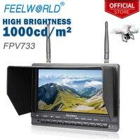 Feelworld FPV733 7 800x480 Разрешение 1000 нит Яркость FPV монитор с двойной 5,8 Г 32CH разнесенного drone БПЛА монитор