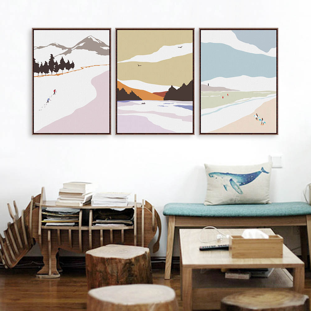 Poster 40x50 Us 6 3 Modern Nordic Minimalist Season Travel Landscape A4 Huge Art Print Poster Wall Picture Canvas Painting Custom Hotel Home Decor In Painting
