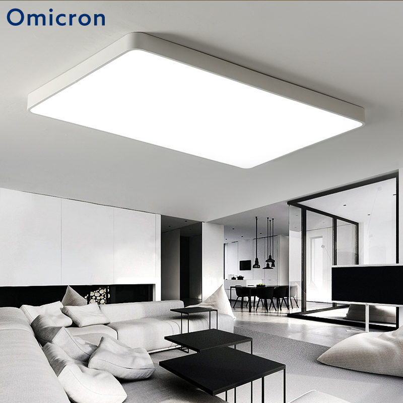 Omicron Modern Minimalist LED Chandeliers Iron White and Black LED Lamps For Living Room Bedroom Home Hotel Decor Lights platinum omicron