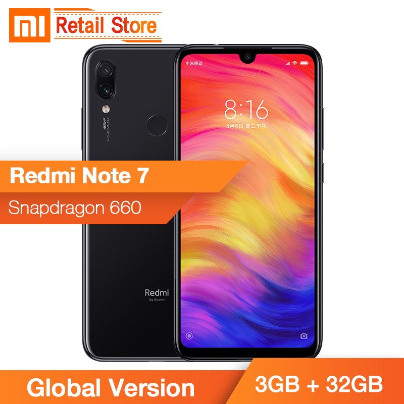 Global Version Xiaomi Redmi Note 7 3GB 32GB Snapdragon 660 48MP Dual Camera 13MP 6 3