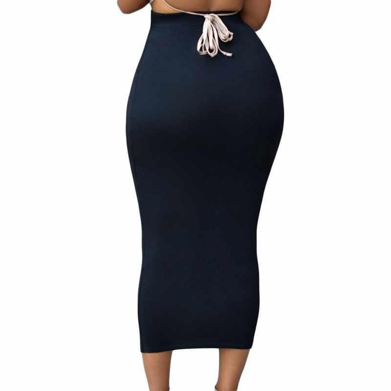 66ec7ff57a0a ... SEBOWEL Sexy High Waist Skirt Black Bodycon Long Skirt Party Wear Women  Casual Elegant Tight Pencil ...