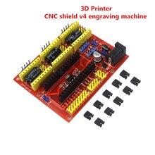 Máquina de Gravura do CNC Escudo V4/Impressora 3D/A4988 Driver da Placa de Expansão para arduino Diy Kit
