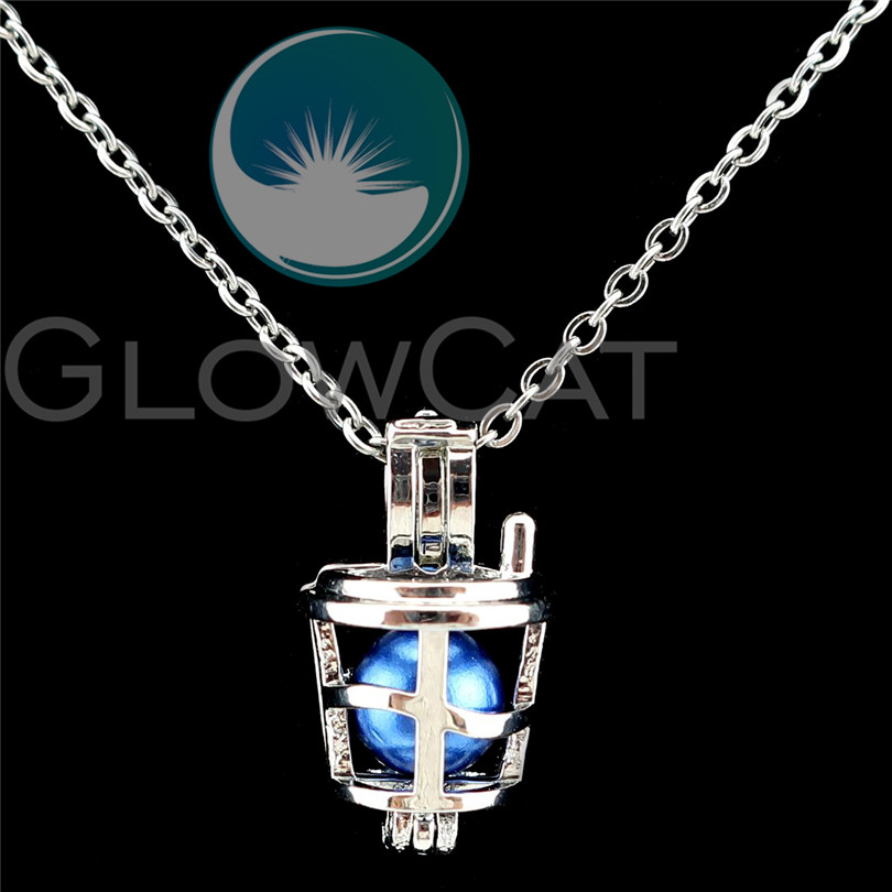 Rainbow Color Teacup Coffee Cup Locket Beads Cage Pendant C942 5 Pack