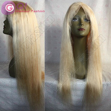 #613 New full lace human hair wigs blonde for white&black woman glueless full lace virgin Brazilian unprocessed human hair wigs