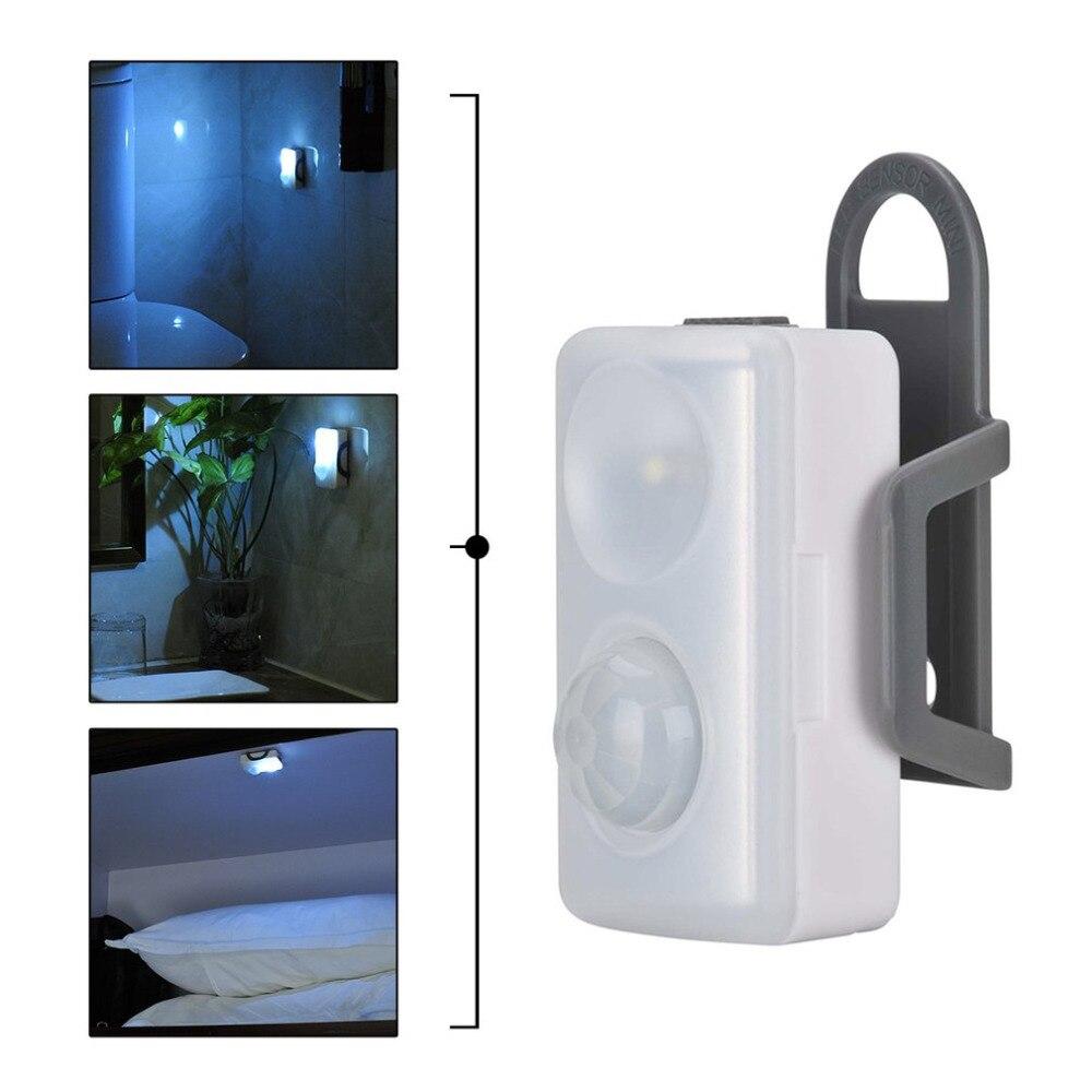 Capteur de mouvement fonctionnel séparable de lumière de nuit de LED avec la lampe d'aspiration magnétique de crochet de bâti pour la chambre à coucher de toilette d'armoires à la maison