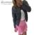 2017 Mulheres Novas Jaqueta Xadrez Impressão Casaco Chaquetas de Ponto Aberto primavera Casual Tops Sólidos Feminino Curto Outwear Moda O Pescoço bombardeiro