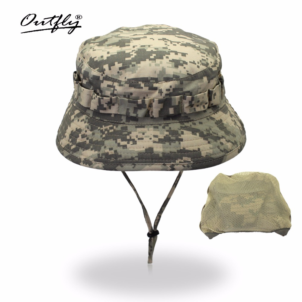 Outfly digitale camouflage Army hat outdoor camping mannen korte bri - Kledingaccessoires - Foto 2