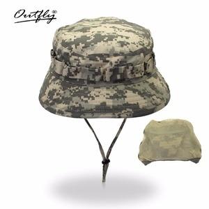 Image 2 - Outfly 디지털 위장 육군 모자 야외 캠핑 남자 짧은 브림 모자 도매 들어 갔어 바이오닉 정글 모자 양동이 모자