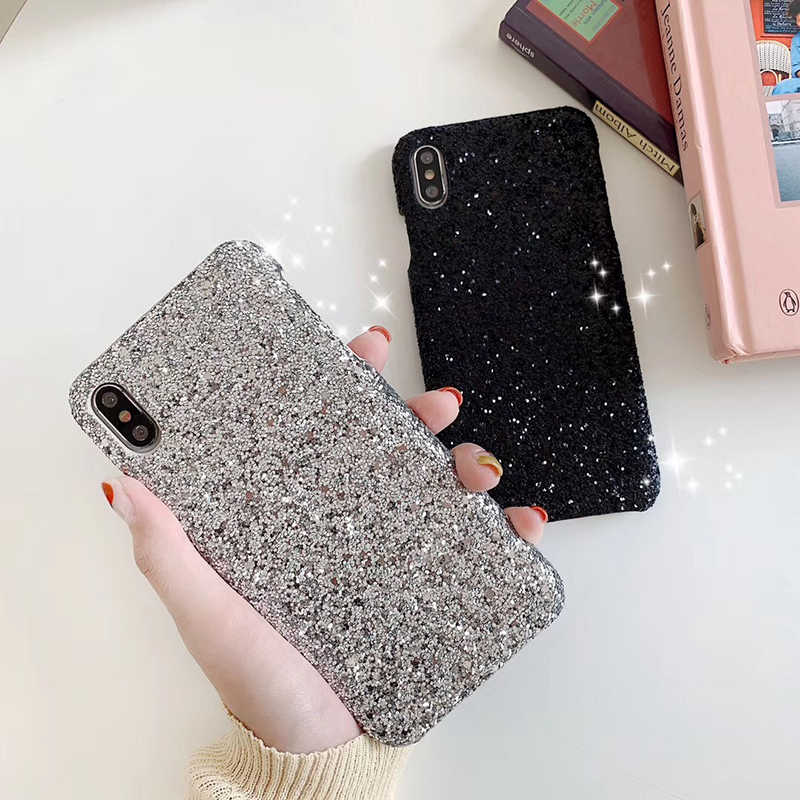 Luxury Shining Sequin Sexy hard plastic phone case for Apple iphone 6 S 6S 7 7 plus 8 X XS XR XS MAX glitter glisten cover coque