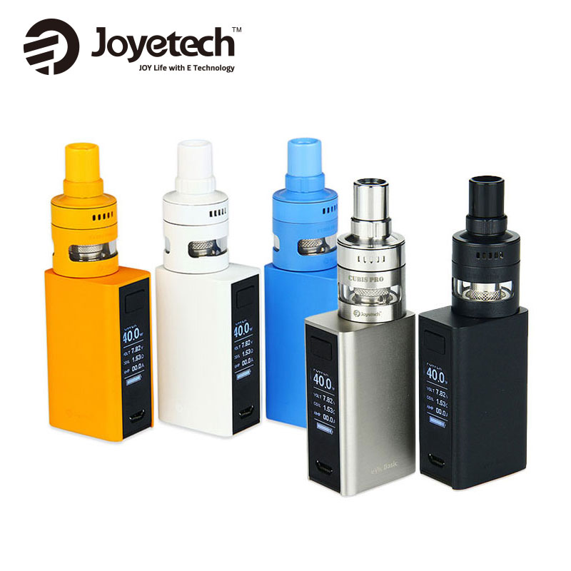Original 50W Joyetech eVic Basic Battery 1500mAh with 2ml CUBIS Pro Mini Tank Starter Kit E-cig Top Airflow Upgradeable Firmware цена 2017