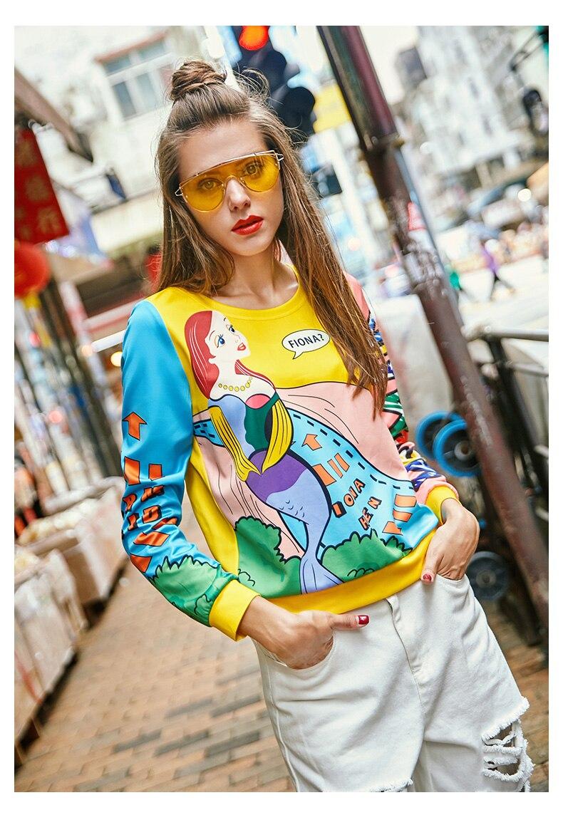 Sudaderas Primavera Jóvenes Mujeres Mujer Ns726 Para Mujeres Letras Colorido De Blusas 2019 Impresa Tops Animados Dibujos Femenina 6rRF6wq7