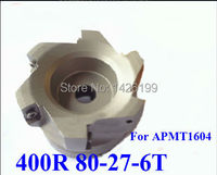 Free Shopping BAP 400R 80 27 6T 90 Degree Right Angle Shoulder Face Mill Head,CNC Milling Cutter, For APMT1604