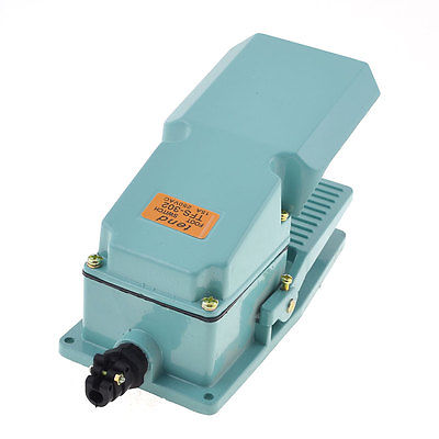 AC250V 15A 1NO 1NC Metal Momentary Industrial Treadle Foot Pedal Switch TFS-302 ac 250v 15a nonslip no nc momentary single action foot switch green