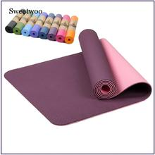 цены 6MM TPE Non-slip Yoga Mats For Fitness Tasteless Brand Pilates Mat 8Color Gym Exercise Sport Mats Pads With Yoga Bag Yoga Strap