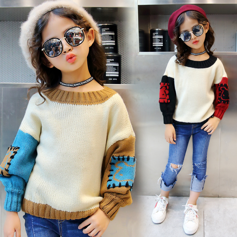 2018 Autumn Winter Teenage Girls Thick Warm Sweaters for Kids Pullover Cardigan Children Clothing Kids Clothes Kids Outerwear 2018 autumn winter children sweaters baby boy girls thick warm sweaters kids casual velvet sweatshirts kids girls sweaters