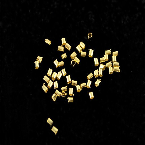 2*2mm Lot Sale Gold/Rhodium/Antique Bronze/Silver Plated Crimp Tube End Seed Beeds Fashion Jewelry diy Findings