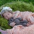 Adereços para a fotografia do bebê 50*160 cm Cenários de Envoltório + Headrband Infantil Pequena Bola de Crochê Mão De Malha 9 Cores envoltório da foto do bebê