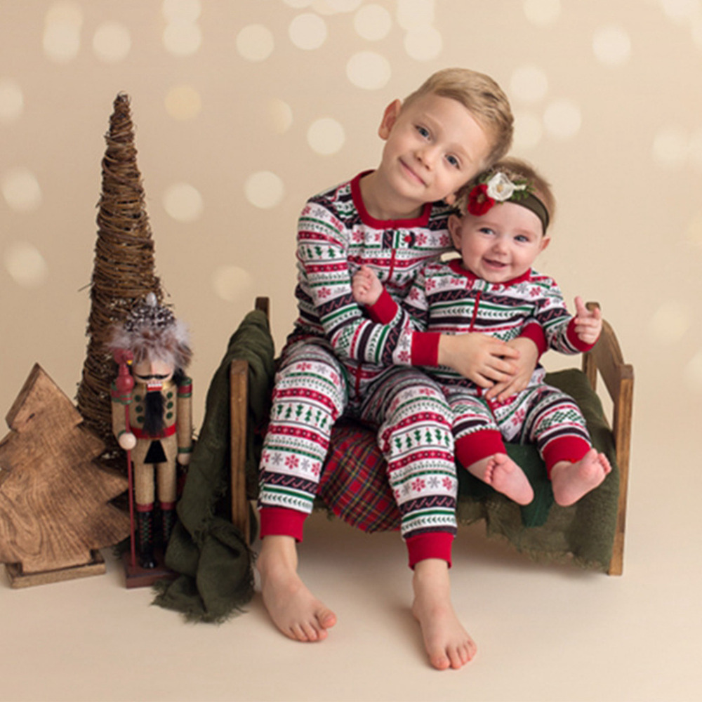 Family Matching Outfits Kids Christmas Family Clothes for Brother and Sister Clothes Jumpsuit Suit Matching Outfits selected homme куртка