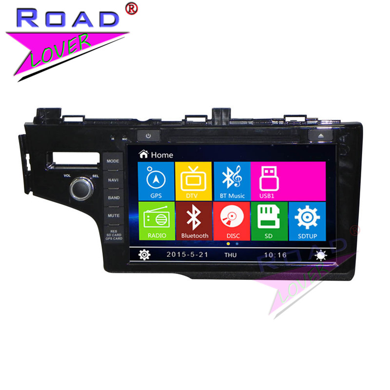 TOPNAVI Wince 6.0 Two Din 9inch Car Media Center DVD Player Auto Radio For Honda Fit 2014- Stereo GPS Navigation HD Screen MP4