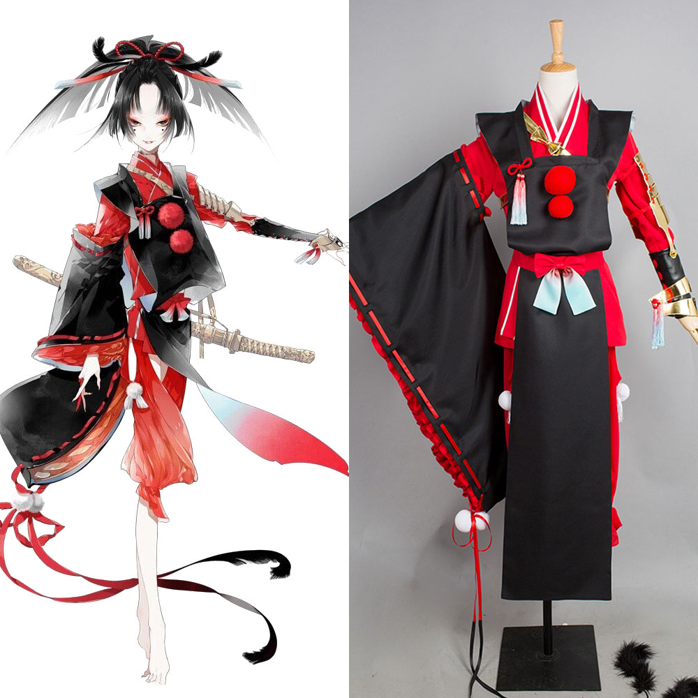 Touken Ranbu Kogarasumaru Kimono Cosplay Costume Full Sets Fashion Uniform Halloween Carnival costume