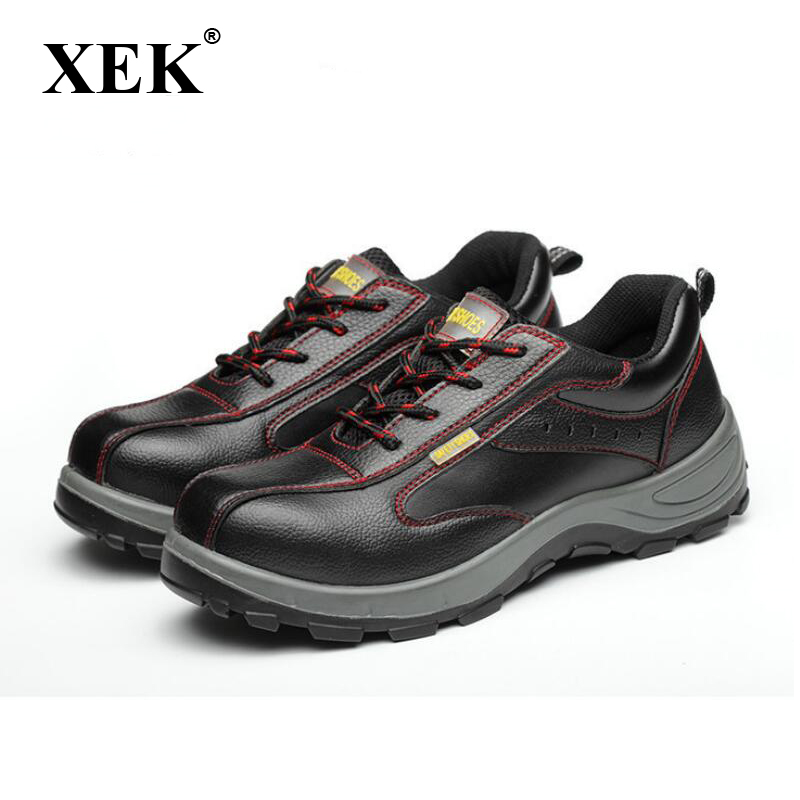 bb0936bc9ef XEK Winter Men Work Safety Shoes Steel Toe Warm Breathable Men's Casual  Boots Puncture Proof Labor Insurance Shoes wyq10