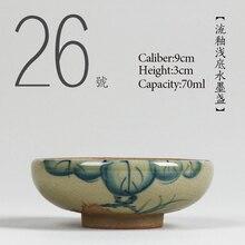 № 026 китайский резинковый шланг высокого качества Керамика чайная чашка 70 мл кунг-фу чайный сервиз фарфор японский Стиль ручной росписью чашка маленькая чаша для чая
