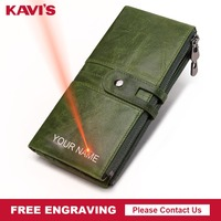 KAVIS Quality Men Wallet Male Coin Purse Hasp Portomonee Clutch Money Bag Lady Handy Card Holder Long Free Engraving for Girls