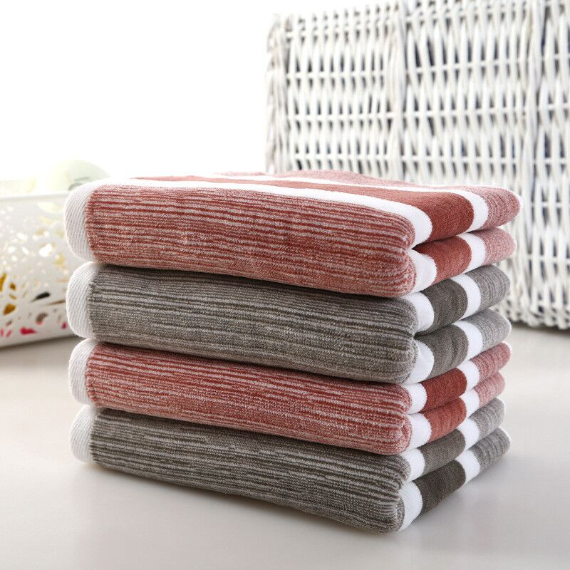 Jzgh 70 140cm Luxury Cotton Bath Towels For Adults Striped Designer Terry Bath Towels