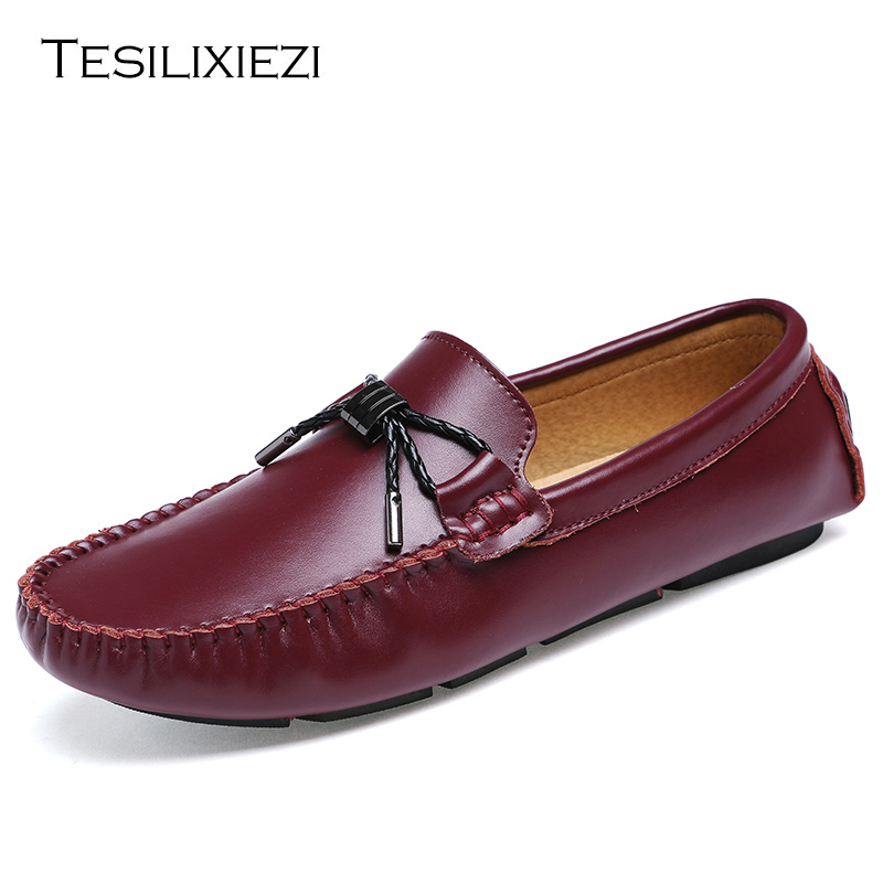 2017 Brand New Fashion Summer Spring Men Driving Shoes Loafers Genuine Leather Boat Shoes Breathable Male Casual Flats Loafers 2016 new style summer casual men shoes top brand fashion breathable flats nice leather soft shoes for men hot selling driving